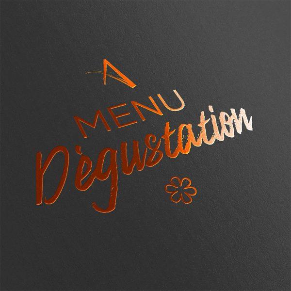 visuel menu dégustation